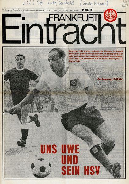 Autogramm Friedel Lutz Bergmann aus 1968 DFB Eintracht Frankfurt 1860 München